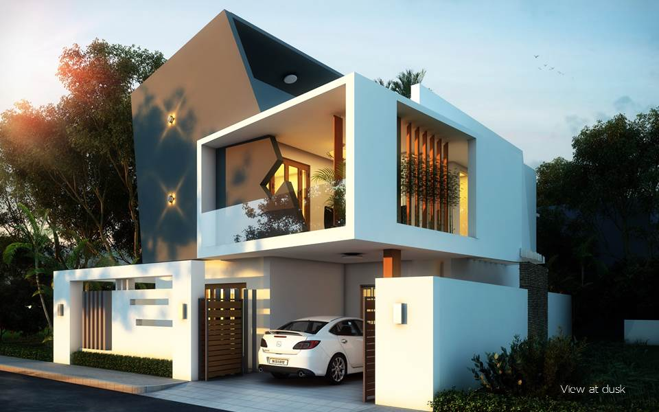 Front Elevation Of House Photos In Chennai : Architects in chennai residential commercial design